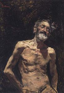 Viejo desnudo al sol de Mariano Fortuny