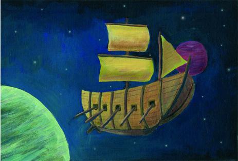 barco en el espacio