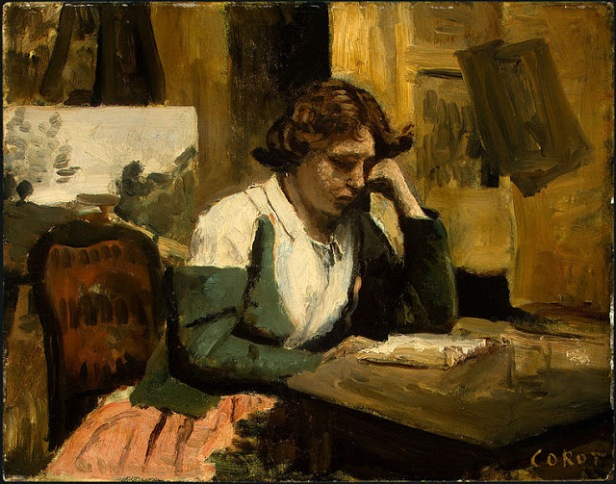 depresionGirl_Reading_by_Jean-Baptiste-Camille_Corot_c1868