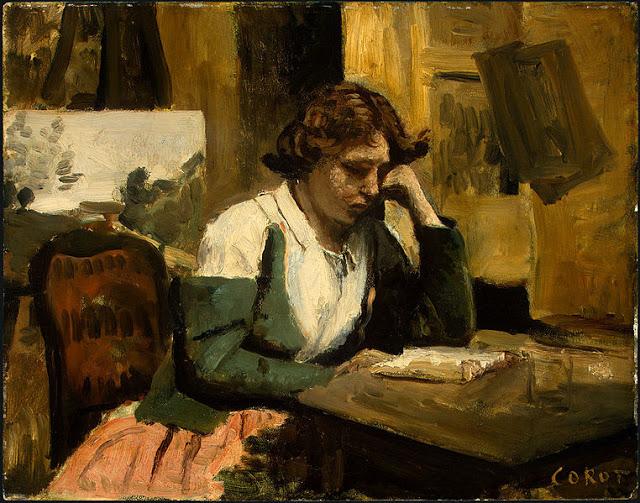 depresionGirl_Reading_by_Jean-Baptiste-Camille_Corot_c1868