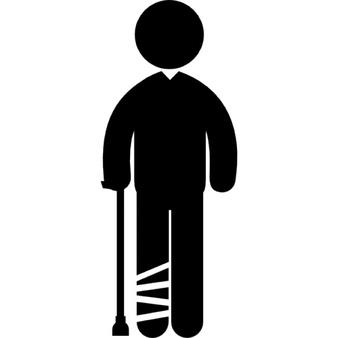 hombre-con-la-pierna-vendada-de-pie-con-un-baston_318-64459