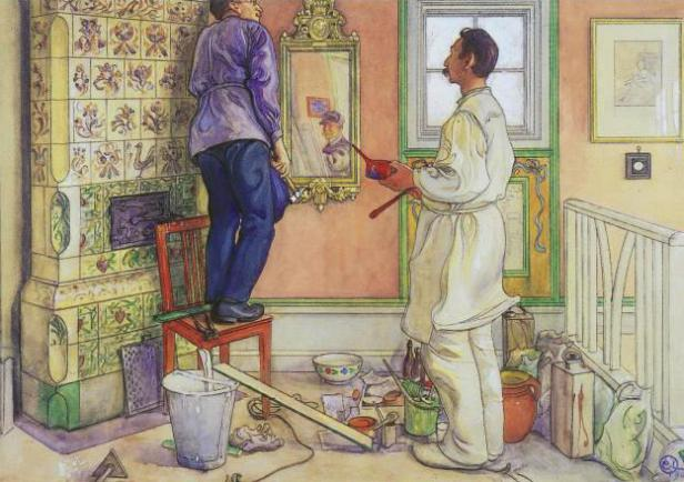 Carl-Larsson-My-friends-the-carpenter-and-the-painter
