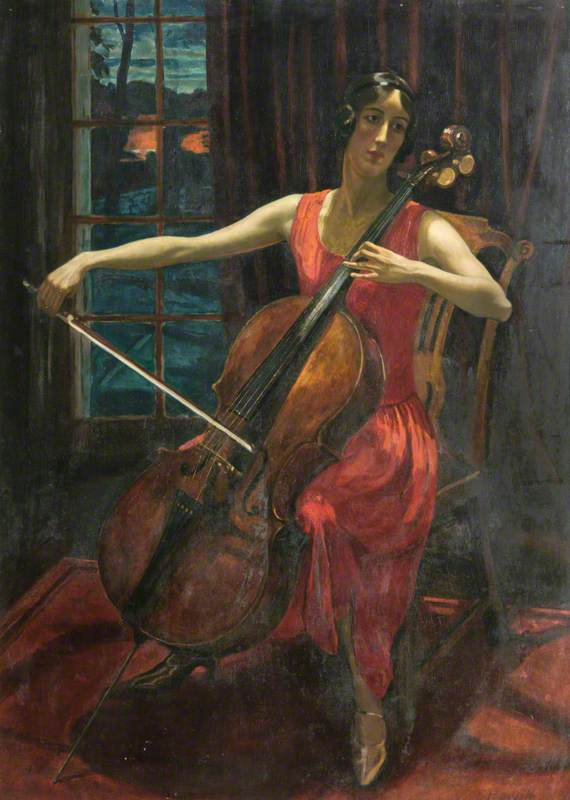 Sivell, Robert, 1888-1958; The Cello Player
