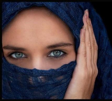 mujer ojos