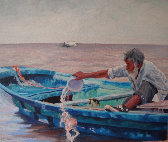 pescador-oleo-Sonia Fernandez
