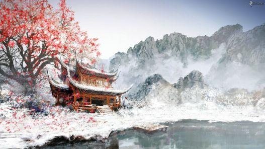 casa-japones-montanas-nevadas-arbol-pintura-dibujo-166878