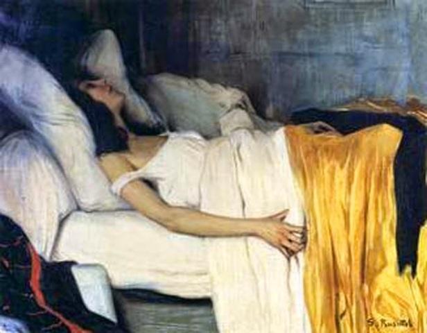 Santiago Rusiñol. 1894-la-morfina