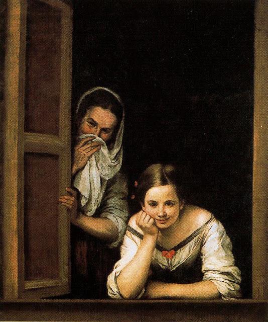 Dos mujeres en la ventana.