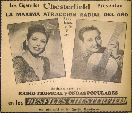 1944 junio 23 Eva Garza y Charro Gil 1944 junio.