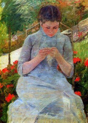 mujer cosiendo mary cassatt