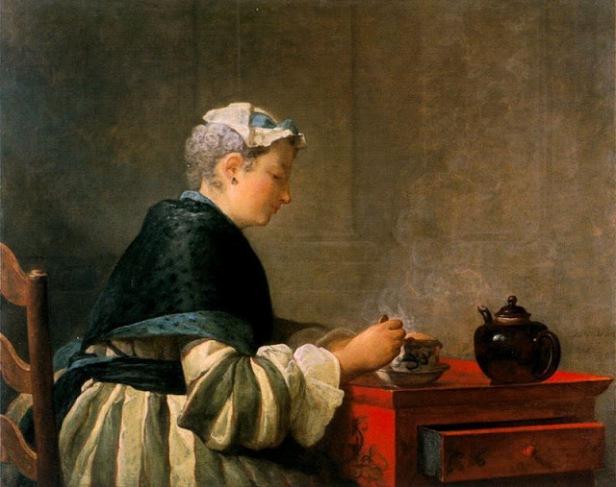 su-esposa-tomando-el-te-jean-simec3b3n-chardin-1735-universidad-de-glasgow