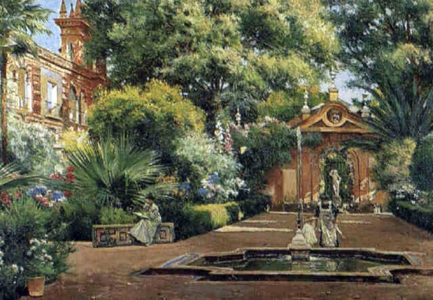 manuel-garcía-y-rodríguez-dappled-sunlight-in-the-garden