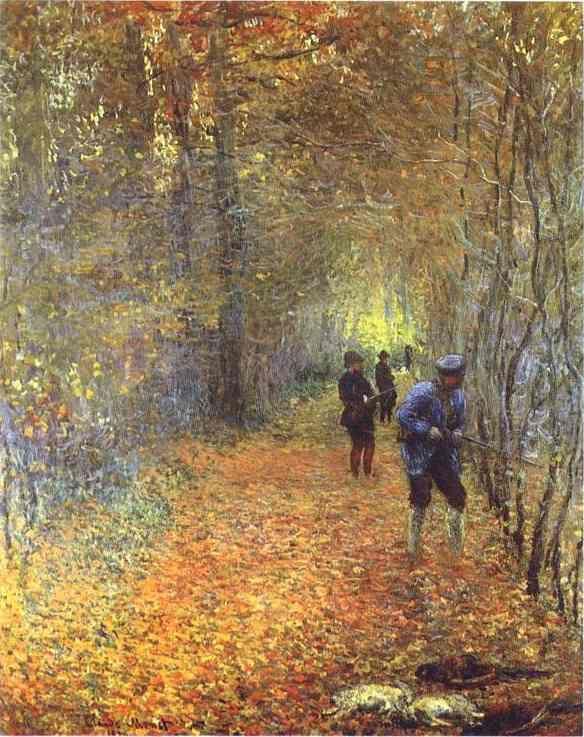 monet.hojas de otoño