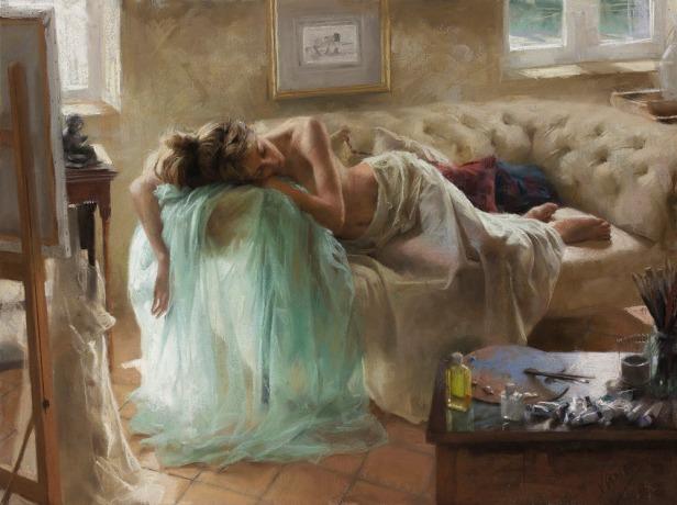 mujer dormida vicente-romero-