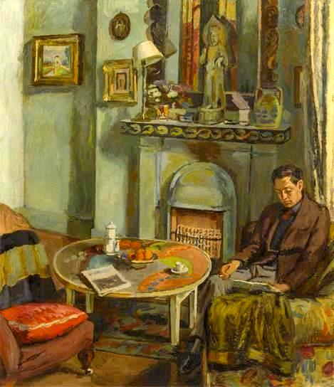 Bell, Vanessa (1879-1961) Interior with Duncan Grant, 1934
