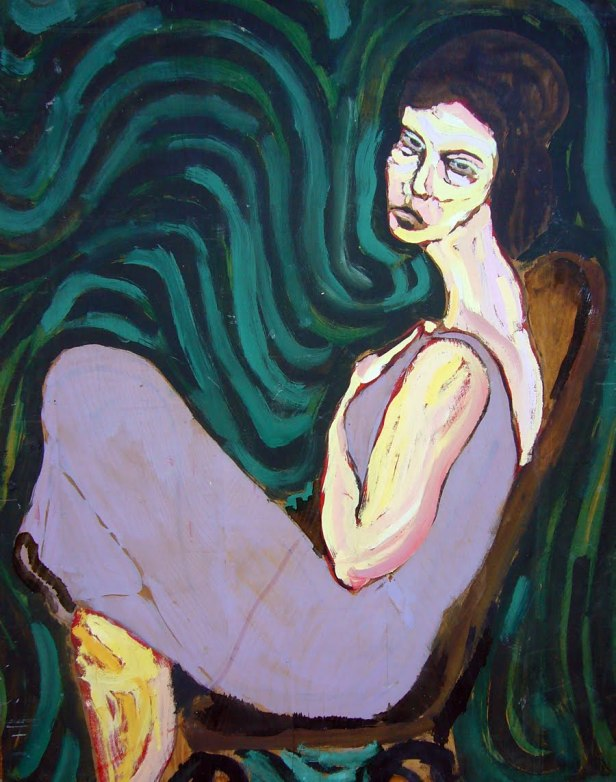 mujer en violeta 84
