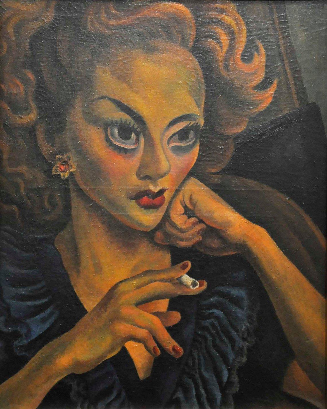 retrato-de-actriz diego Rivera