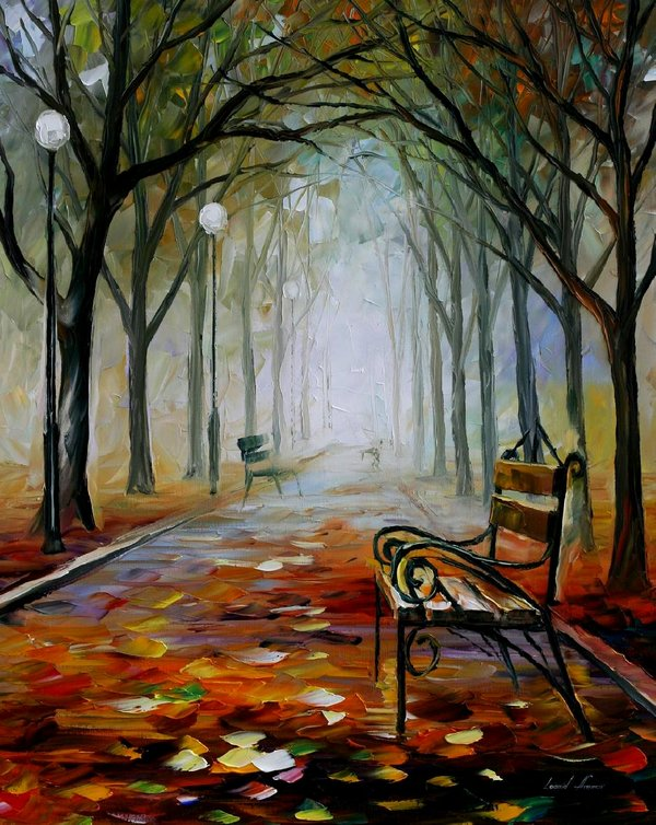 Leonid-afremov-the-way-of-the-fog