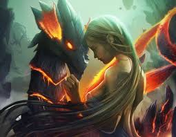 Fondos de pantalla : dragón, rubia, mujer, pelo largo ...
